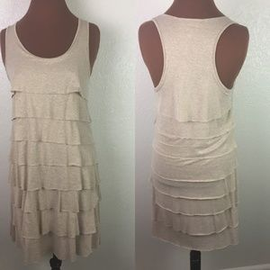 [Kenneth Cole] Tiered Ruffle Racer back Dress